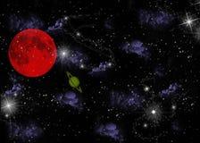 Planeta y estrellas Stock de ilustración