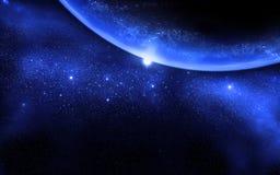 Planeta y galaxia Imagenes de archivo