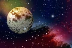 Planeta y galaxia en espacios exteriores Fotos de archivo