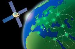 Planeta y satélite Fotos de archivo