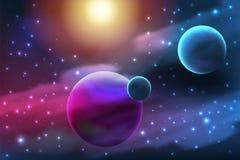 Planeta z księżyc Obrazy Stock