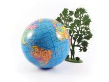 planeta ziemia globu drzewo Zdjęcie Stock