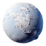 planeta ziemski śnieg ilustracji