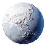 planeta ziemski śnieg ilustracja wektor