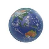 planeta ziemski biel 3D ilustracja, ścinek ścieżka Obrazy Royalty Free