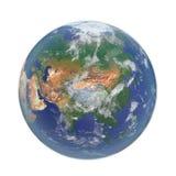 planeta ziemski biel 3D ilustracja, ścinek ścieżka Obraz Royalty Free