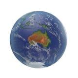 planeta ziemski biel 3D ilustracja, ścinek ścieżka Obraz Stock