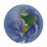 planeta ziemski biel 3D ilustracja, ścinek ścieżka Fotografia Royalty Free