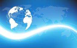 Planeta ziemski informational strumień. Wektorowa ilustracja Obrazy Stock