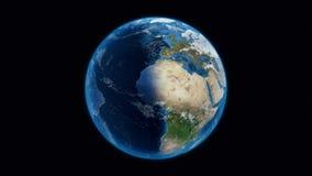 Planeta Ziemski widok od przestrzeni ilustracji