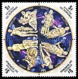 Planeta znaczek pocztowy Zdjęcie Royalty Free