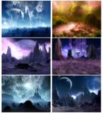 Planetarische fantasie Stock Afbeeldingen