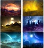 Planetarische fantasie Stock Afbeelding