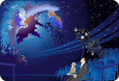 planetarium royaltyfri illustrationer