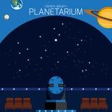 planetarium vektor illustrationer