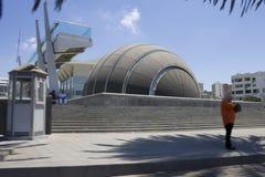 Planetarium associado com a biblioteca de Alexandria foto de stock