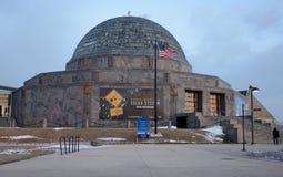Planetarium bij Schemer Stock Afbeeldingen