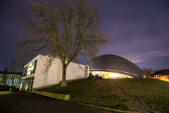 Planetarium Bochum Germany przy nocą Zdjęcie Royalty Free