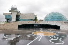 The planetarium building in the city of Yaroslavl royalty free stock photography