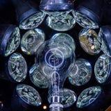 Planetarium lamp. The lamp in Moscow planetarium Royalty Free Stock Photos
