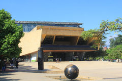 Planetarium sector. Medellín Colombia. Park with buildings and blue sky Stock Images