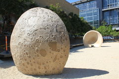 Planetarium sector. Medellín Colombia. Park with lunar Face Simulation Stock Image