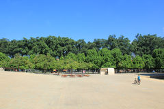 Planetarium sector. Medellín Colombia. Park with trees and blue sky Royalty Free Stock Images