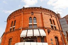Planetarium in Torun town, Poland. Former gas tank (circa 1890) in Torun (former Thorn) town, Poland. Since 1994 serves as Planetarium named after Wladyslaw stock photos