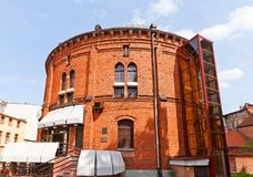 Planetarium in Torun town, Poland. Former gas tank (circa 1890) in Torun (former Thorn) town, Poland. Since 1994 serves as Planetarium named after Wladyslaw royalty free stock images