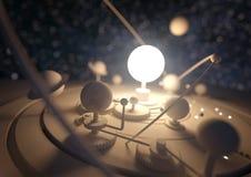 Planetariums-Modell stock abbildung
