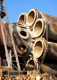 Planetary cooler rotary kiln during overhaul Stock Image