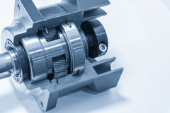The planetary gear. In transmission gear box show the inside part.Automobile part royalty free stock images