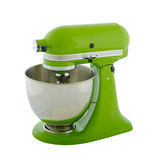 Planetary mixer. Kitchen appliances - green planetary mixer, isolated on a white background Royalty Free Stock Photos