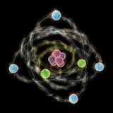 Planetary model of atom Stock Photos