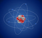 Planetary model of atom Royalty Free Stock Photo