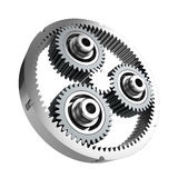 Planetary reducer from metallic gear Stock Photography