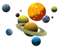 The Planetary solar system Stock Photos