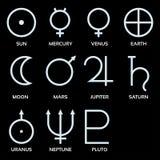Planetary symbols Royalty Free Stock Photo