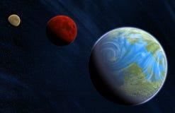 Planetas Stock de ilustración