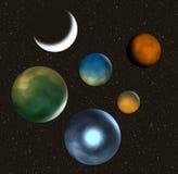 Planetas Imagen de archivo libre de regalías