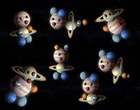 Planetas da banda desenhada da coleção do sistema solar ilustração do vetor