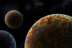 Planetas da ficção científica imagem de stock