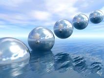 Planetas de aumentação Imagem de Stock
