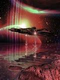 Planetas de exploración ilustración del vector