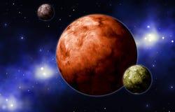 Planetas de Extrasolar Imagem de Stock