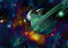 Planetas de Extrasolar Fotos de Stock Royalty Free