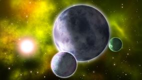 Planetas de giro laço video estoque