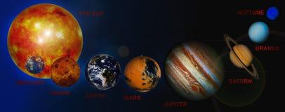Planetas de la Sistema Solar Imagen de archivo