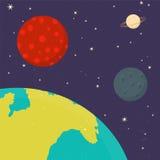 Planetas del vector de la Sistema Solar Imagenes de archivo