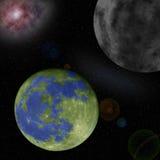 Planetas desconocidos en el universo Foto de archivo